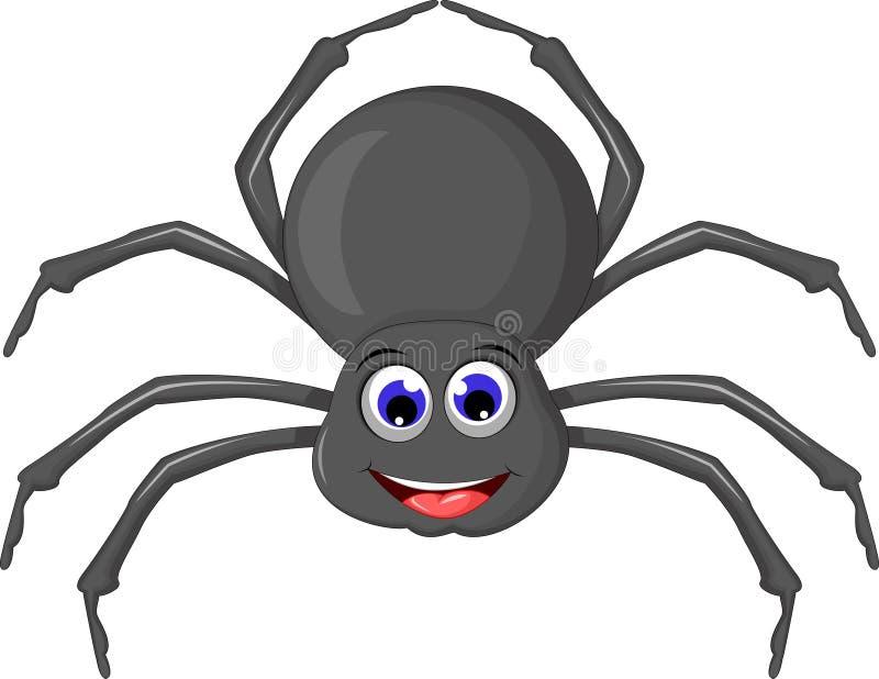您的Cartoo蜘蛛设计 皇族释放例证