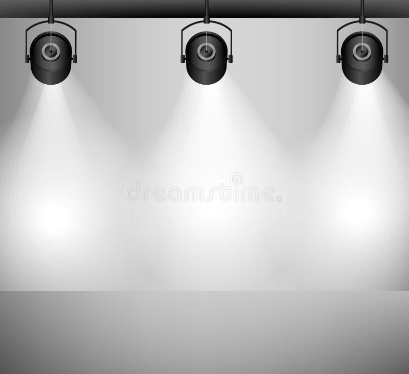 您背景空的闪亮指示照明设备物体空间的文本 皇族释放例证