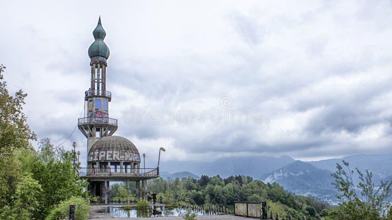 您能从小山看到的全景 库存照片