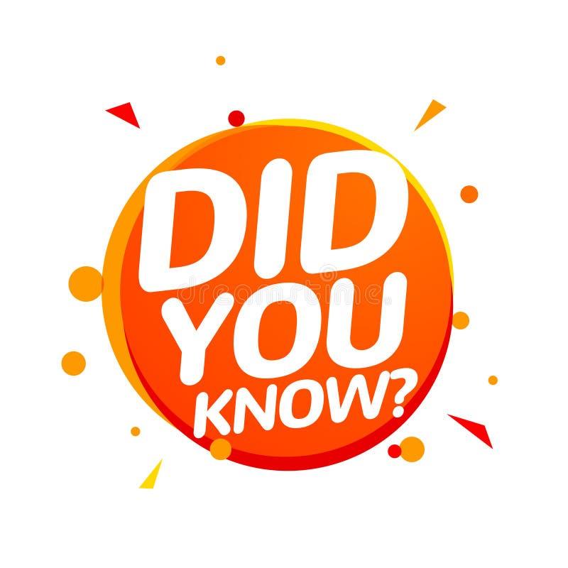 您认识在讲话泡影消息的文本 问题横幅或智慧要求标志信息 向量例证