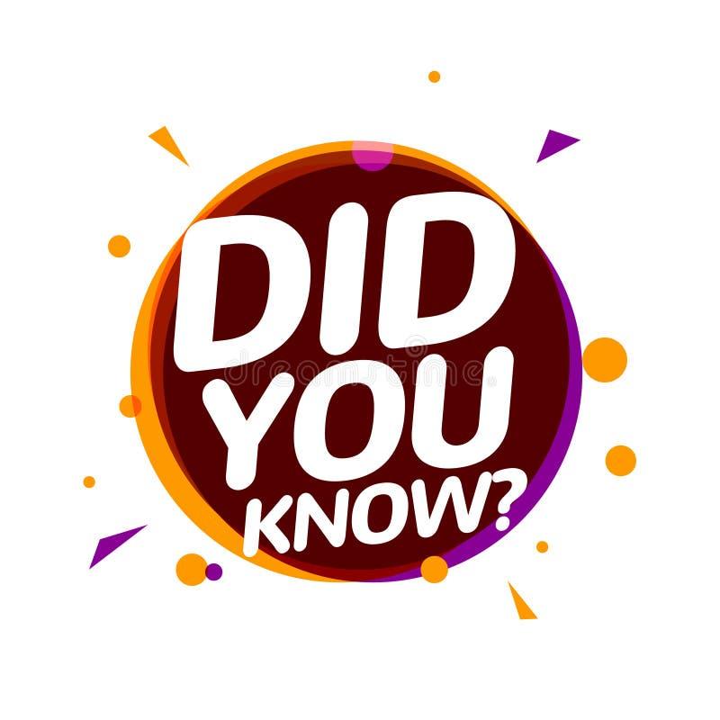 您认识在讲话泡影消息的文本 问题横幅或智慧要求标志信息 库存例证