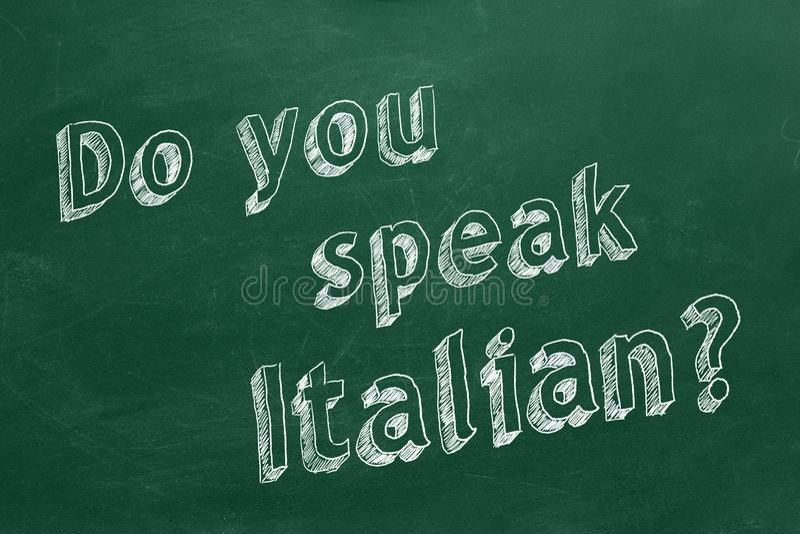 您讲意大利语 库存例证