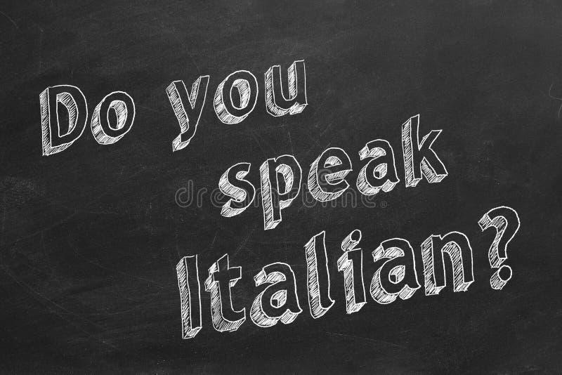 您讲意大利语 皇族释放例证