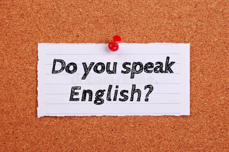 您讲英语概念 库存图片