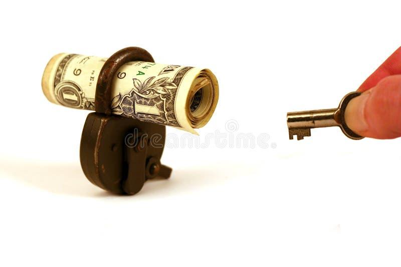 您锁着的货币的serie 库存图片
