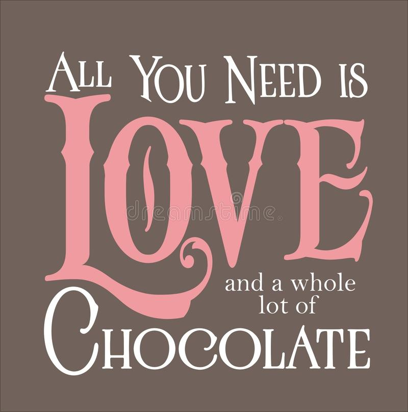 您需要的所有是爱和巧克力 皇族释放例证