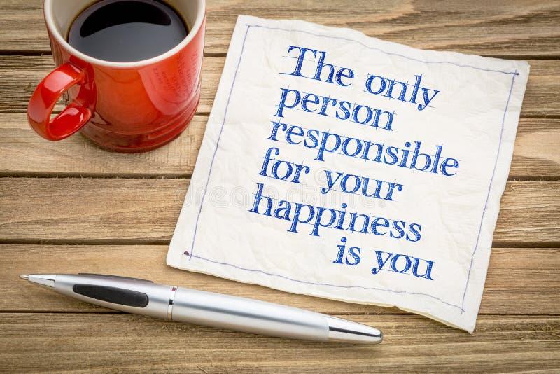 您负责您的幸福 图库摄影