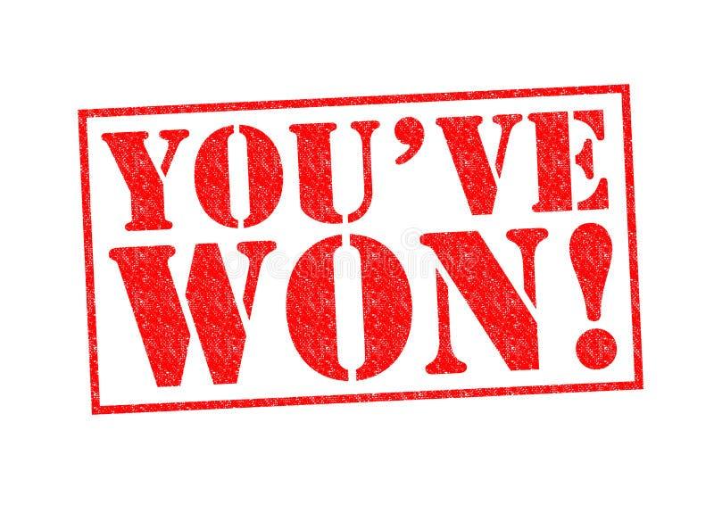 您VE被赢取的`! 向量例证