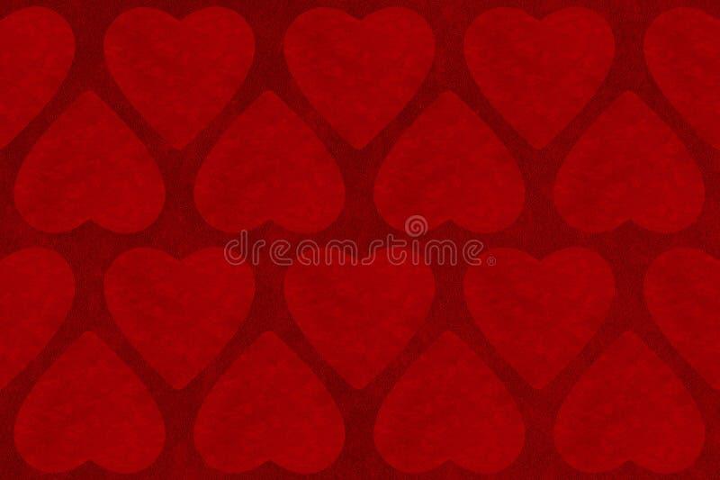 情人节与心脏形状的摘要背景 免版税库存图片