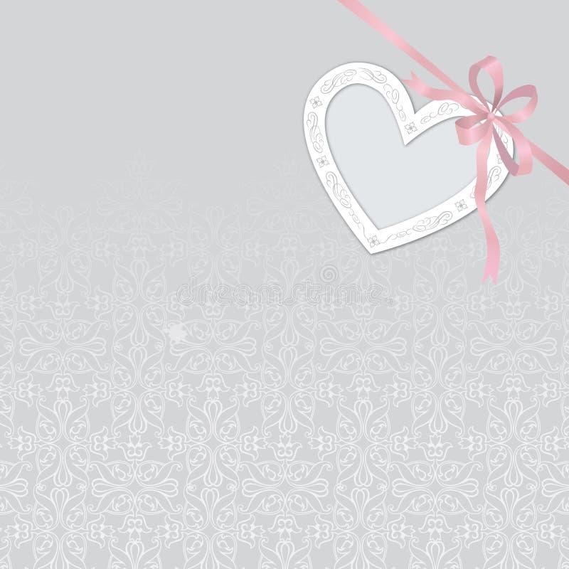 情人节与被削减的纸心脏的摘要背景 可以是 向量例证