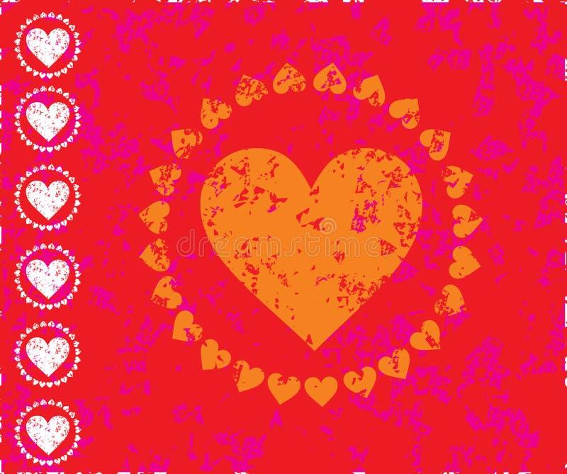 情人节卡片 向量例证