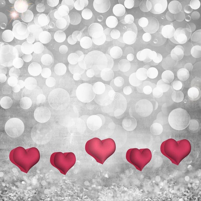 情人节在灰色的帕路玛的假日背景& 免版税库存照片