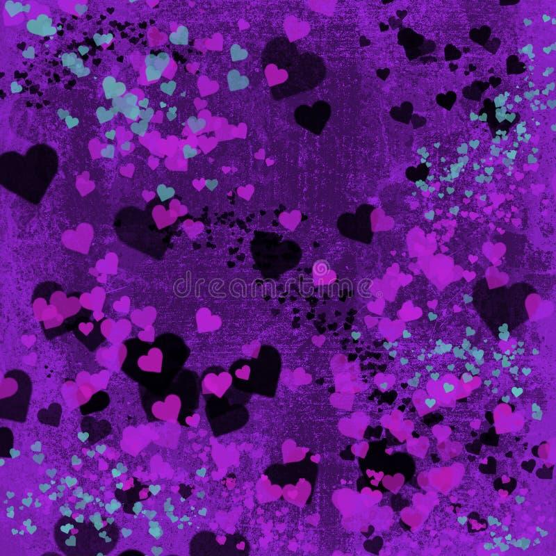 情人节心脏抽象背景 皇族释放例证
