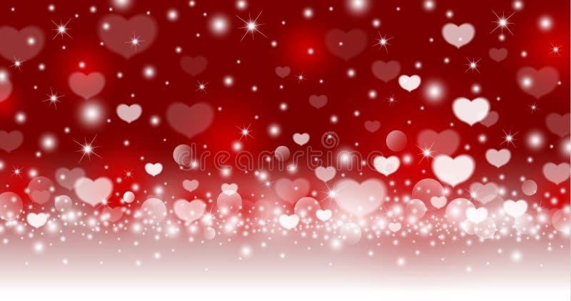 情人节摘要心脏背景设计  皇族释放例证