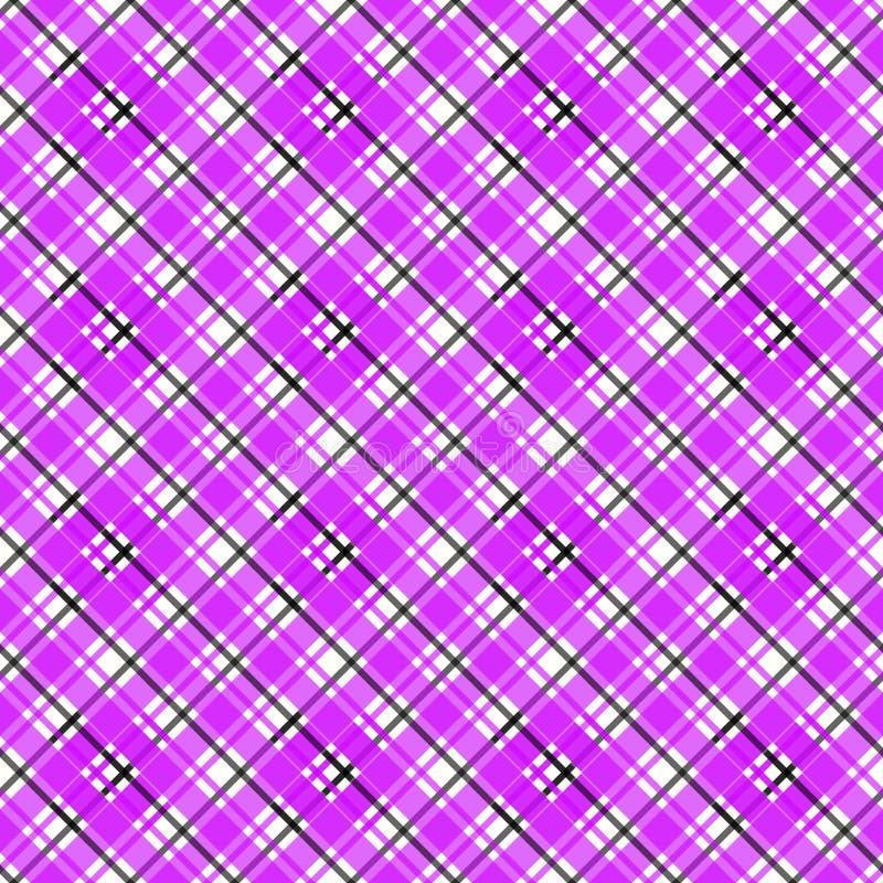 情人节格子花 在桃红色和黑笼子的苏格兰样式 r 传统苏格兰方格 库存例证