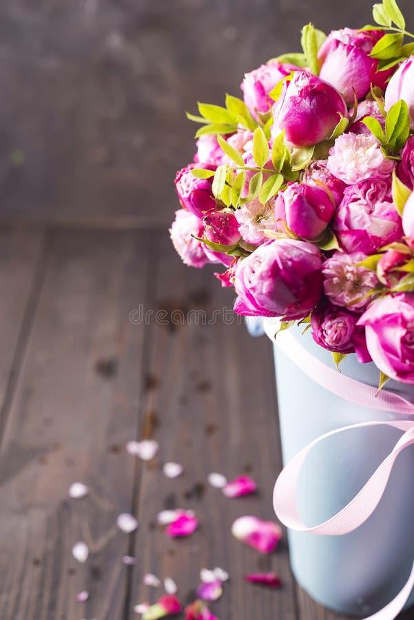 情人节桃红色玫瑰 库存照片