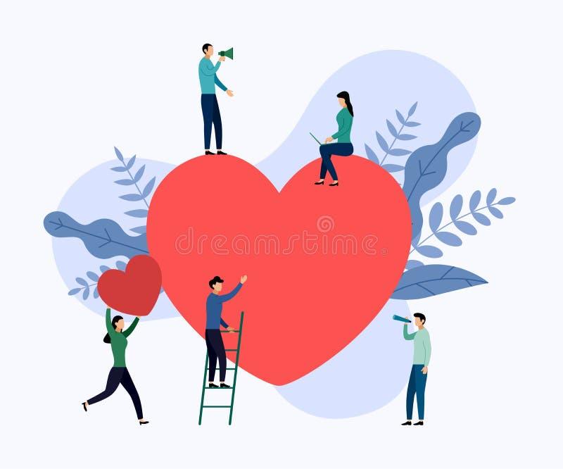 情人节概念,配合,大心脏 皇族释放例证