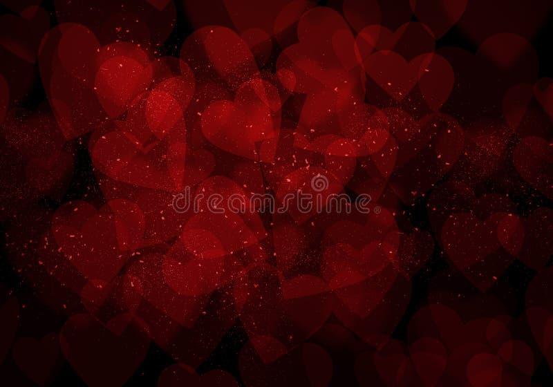 情人节深红心脏背景 皇族释放例证