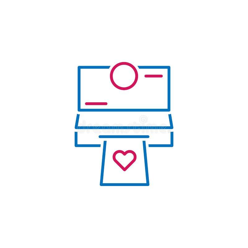 情人节,电传,心脏象 能为网,商标,流动应用程序,UI,UX使用 向量例证