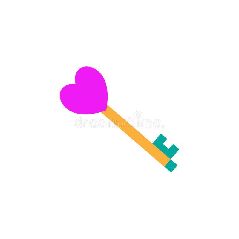 情人节,门钥匙象 网流动概念和网应用程序的情人节象的元素 详述的情人节,门 库存例证