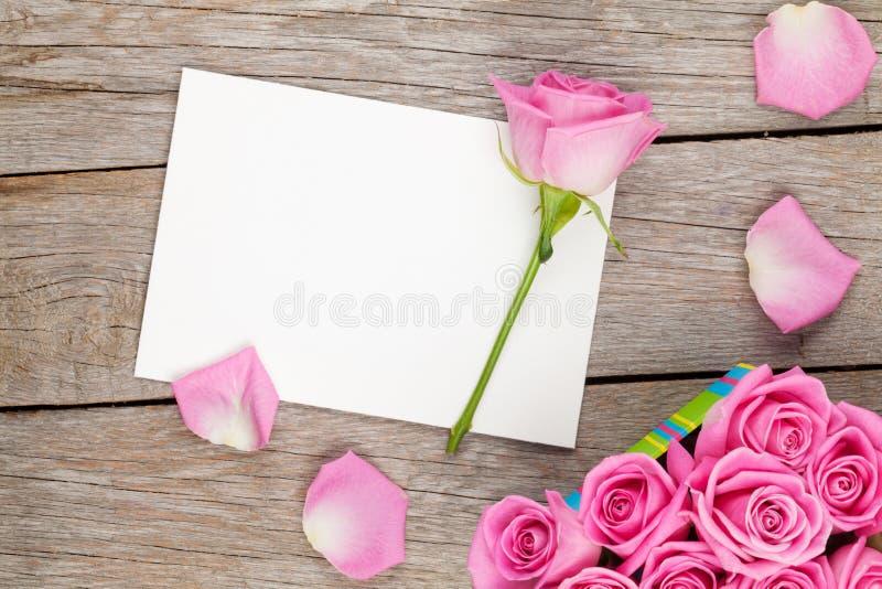 情人节贺卡或照片框架和充分礼物盒  库存图片