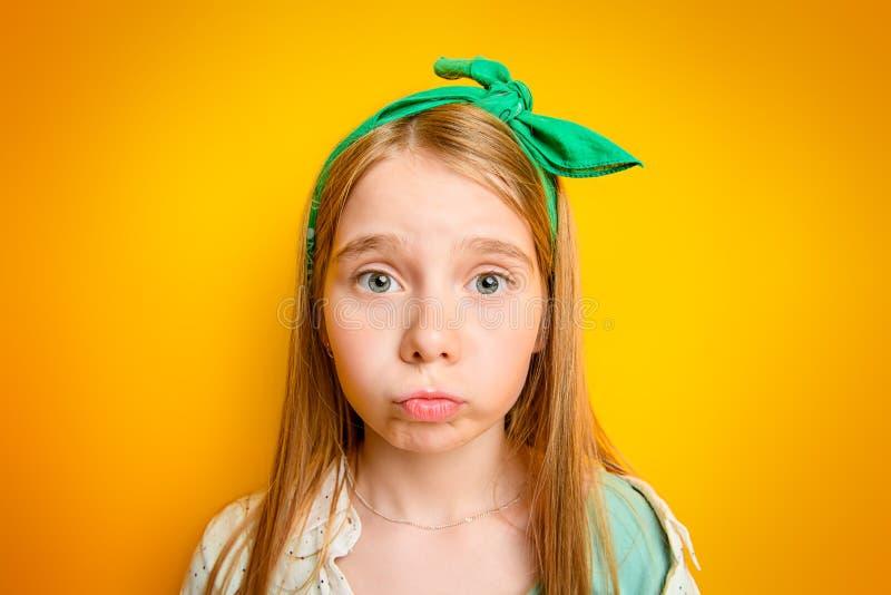 情感儿童女孩 库存图片