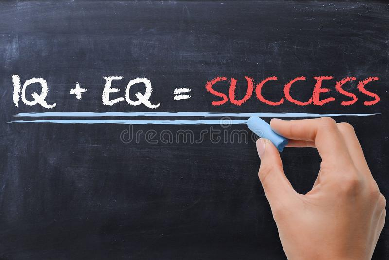 情感商数EQ加上智商智商-成功惯例 库存图片