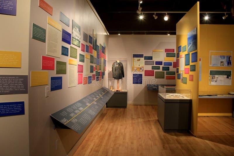 情感显示在越南狩医、纽约州军事博物馆和退伍军人研究中心,萨拉托加纽约记忆里, 2015年 免版税图库摄影