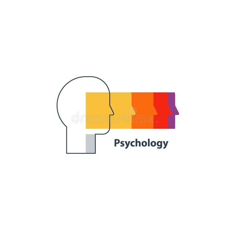 情感智力概念,心理学商标 皇族释放例证