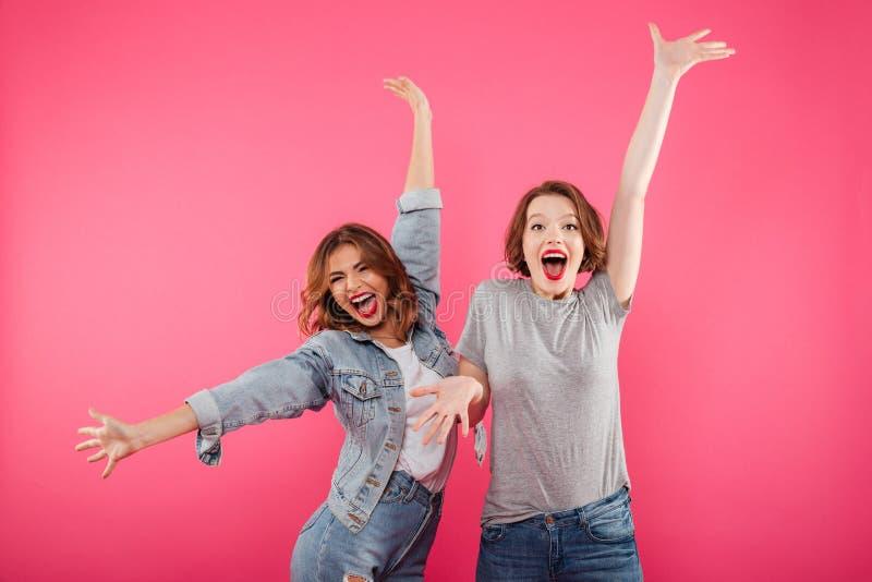 情感激动的两个妇女朋友 库存图片