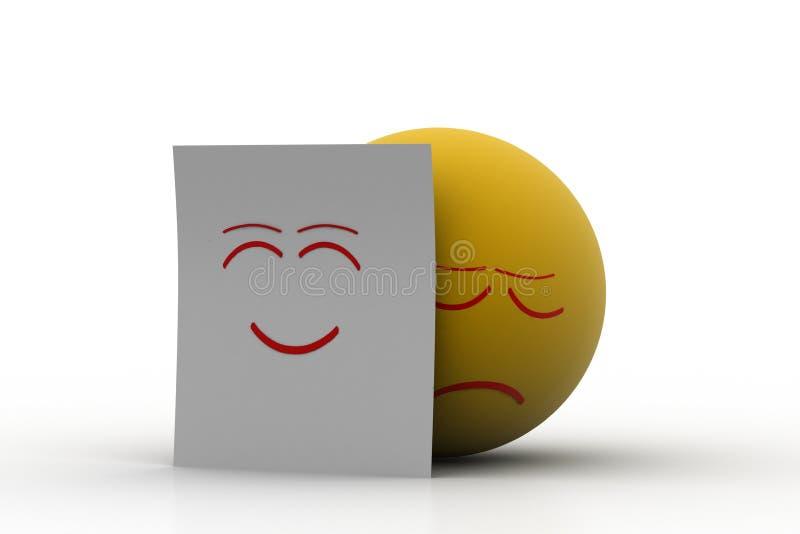 情感球皮真正的面孔 皇族释放例证