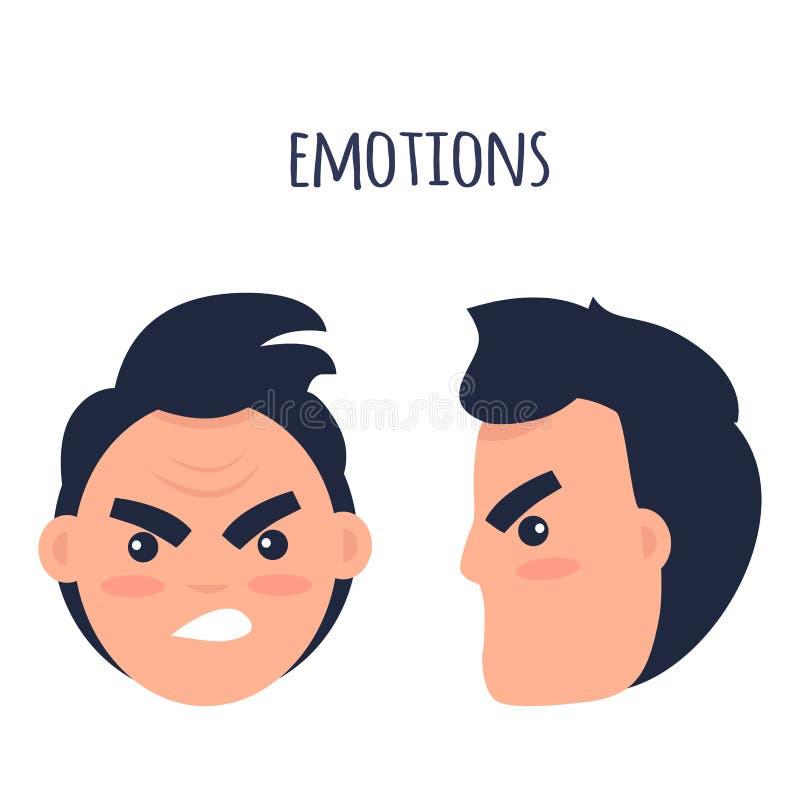 情感 恼怒的人面孔隔绝了例证 皇族释放例证