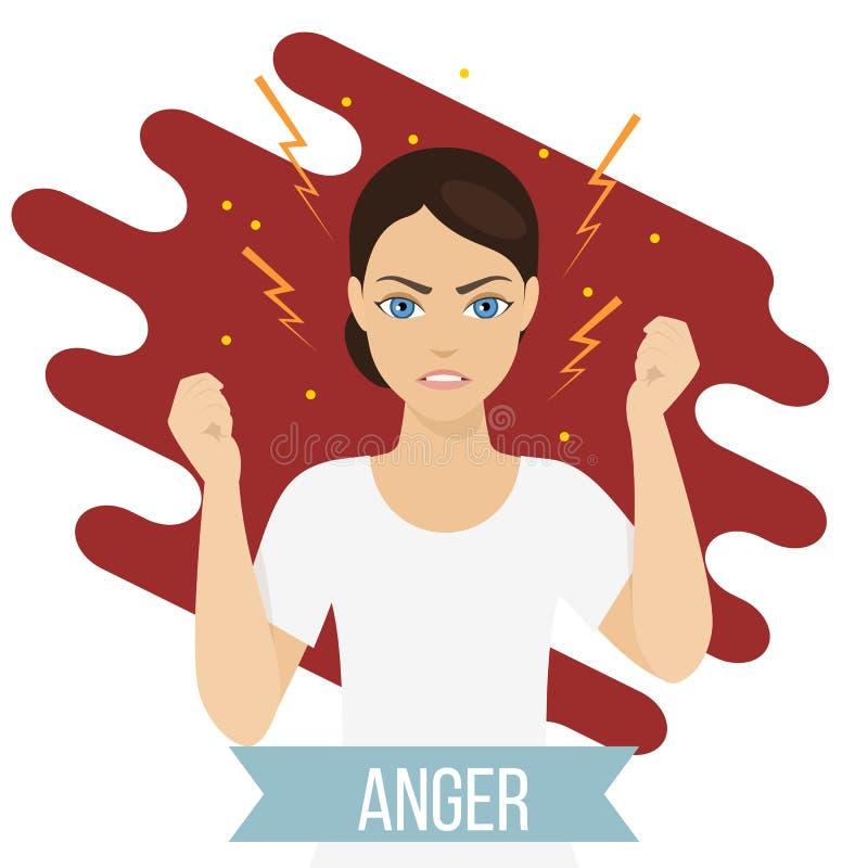 情绪健康概念 向量例证
