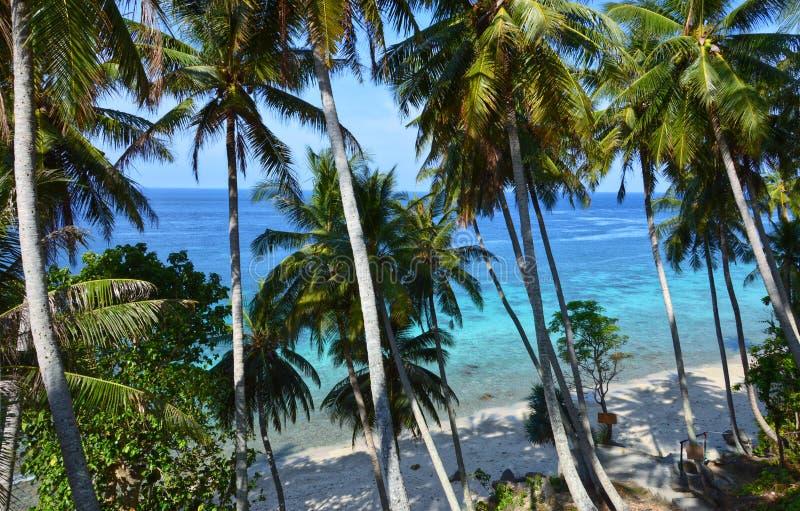惊人海滩在Pulau Weh,印度尼西亚 免版税库存照片