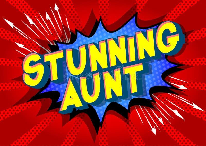 惊人的伯母-漫画样式词 向量例证