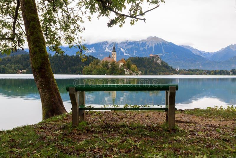 惊人的城堡流血湖 图库摄影