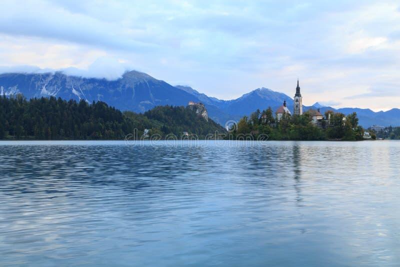 惊人的城堡流血湖 库存图片
