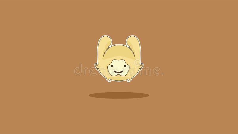 惊人的墙纸的一只兔子有棕色背景 库存图片