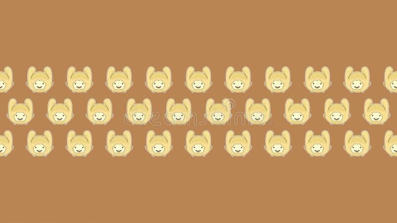 100惊人的墙纸的兔子有棕色背景 免版税库存图片