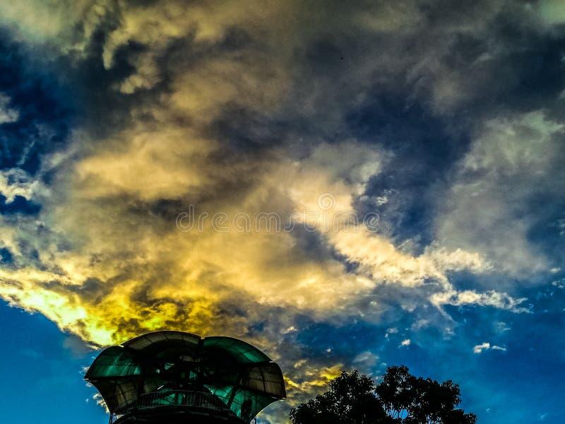 惊人的天空在厄瓜多尔 免版税库存照片