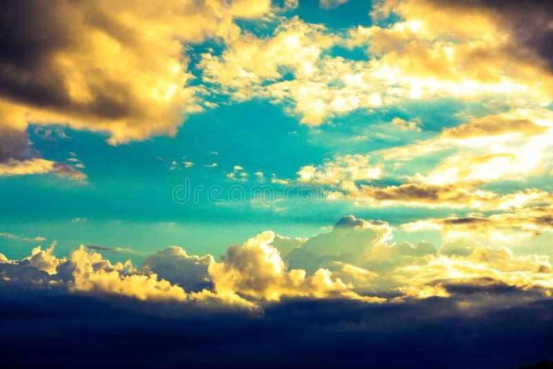 惊人的天空在厄瓜多尔 图库摄影