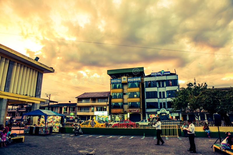 惊人的天空在厄瓜多尔 库存照片
