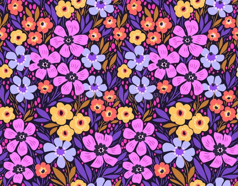 惊人的无缝的花卉样式 免版税库存照片