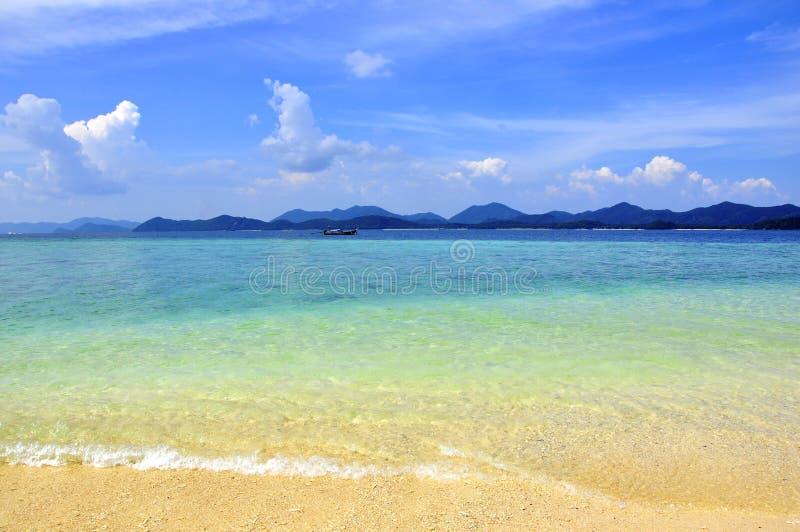 惊人的海滩上色异乎寻常热带 库存图片