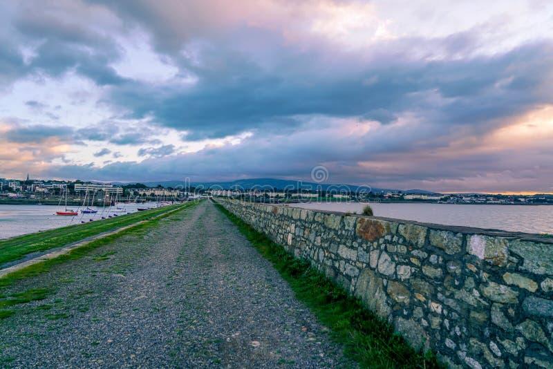 惊人的港口在都伯林 免版税库存图片