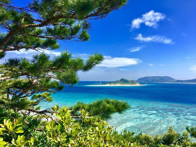 惊人的看法冲绳岛zamami 库存图片