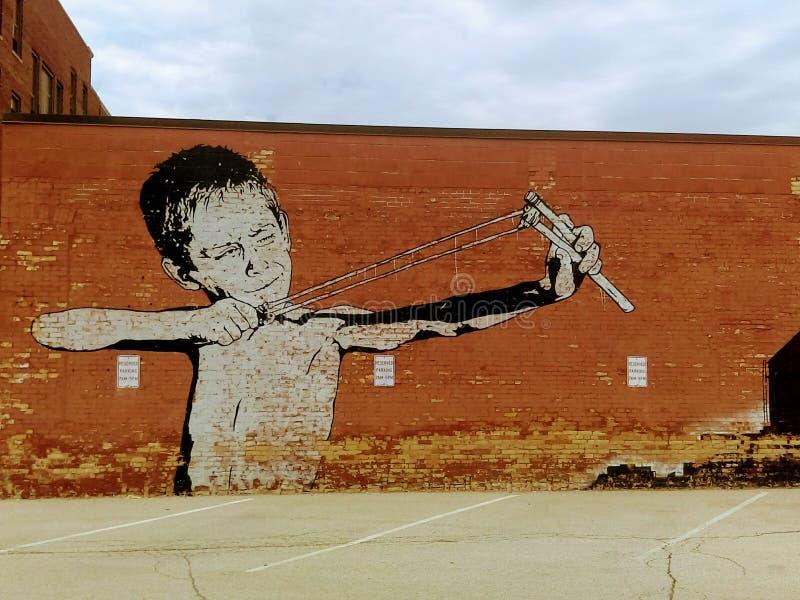 惊人的镇街道艺术 免版税库存图片