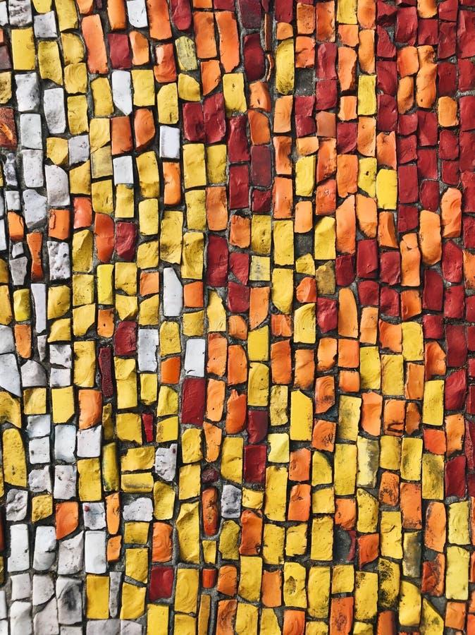 惊人的马赛克五颜六色的背景 免版税库存照片