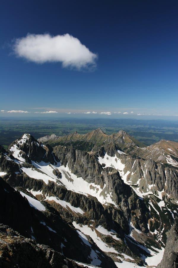 惊人的高山斯洛伐克tatra视图 库存照片