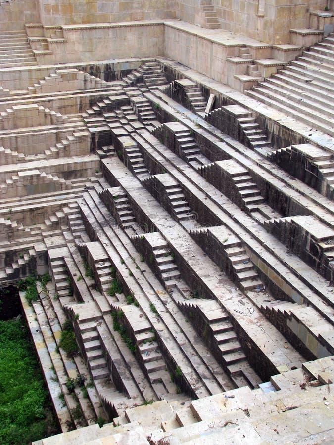 惊人的bundi印度中世纪stepwell 免版税库存照片